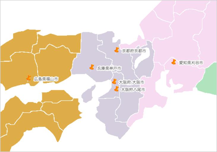 関西・中部エリア