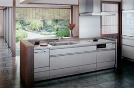 骨組みであるキャビネットもステンレスででき ているSESPA(セスパ)シリーズは、NAS鎌倉工 場で作られている製品。 昔と変わらぬ人気を誇る、ステンレスキッチン の代表モデルです。